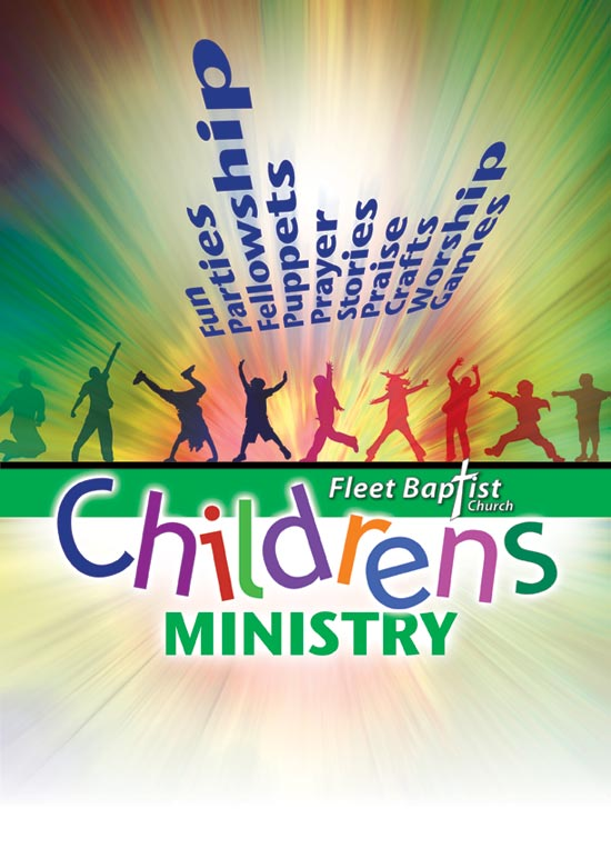 Childrens ministry flyer and logo