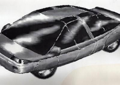 Concept car circa 1991 - drawn using computer