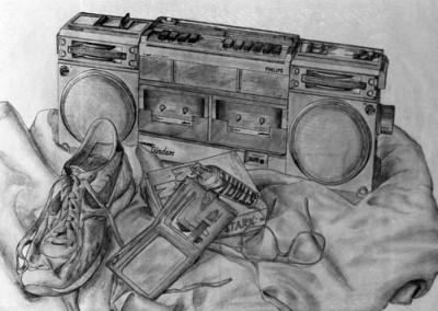 Still life - detail pencil drawing