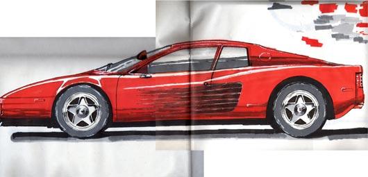 Magic Marker visual of car