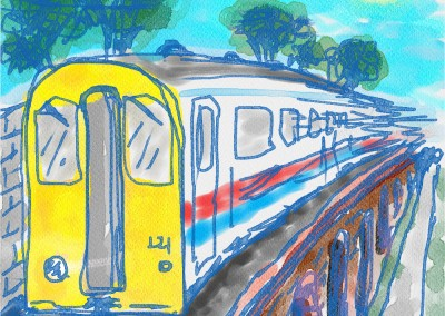 The Train - quick digital sketch