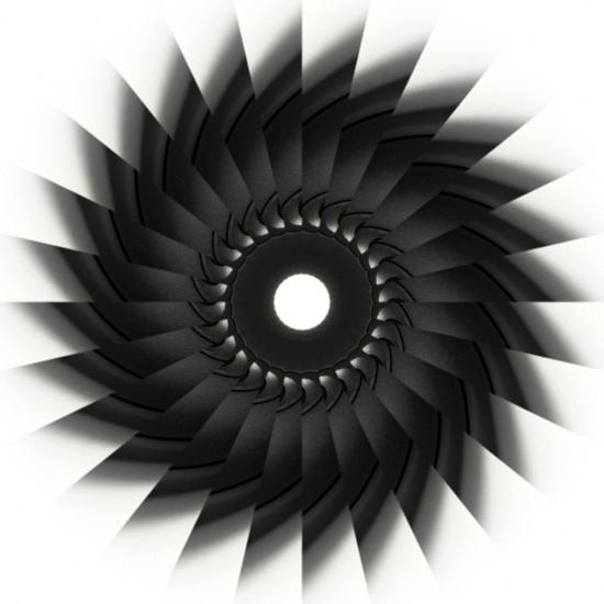 Kaleidoscope image (2) 'Circular Saw'