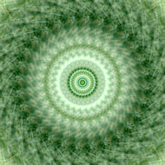 Kaleidoscope image (3) green