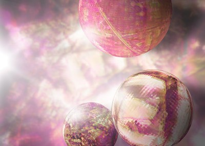 Purple Balls Abstract. Copyright Creative Bytes.